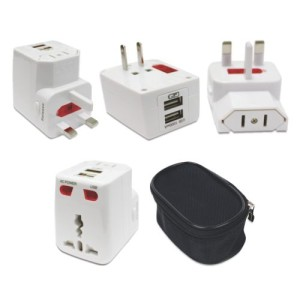 Travel adaptor with Dual USB specially cater for corporate gift segment. Distribute to Malaysia