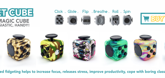 Fidget Cube – 6 Sided Magic Toy that help you to Increase your focus, improve productivity and release stress!