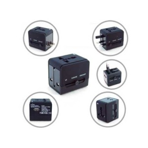 Black travel adaptor| TA-005