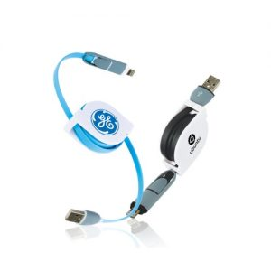 Retractable Smartphone Charging Cable iPhone Android . EG-C5 1