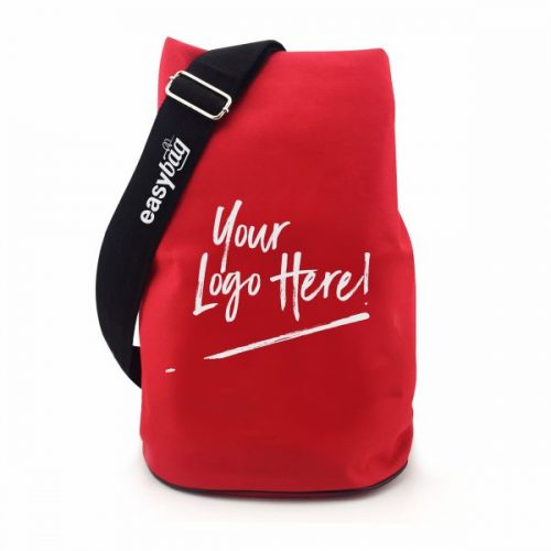duffle bag supplier in Malaysia with red colour fabric