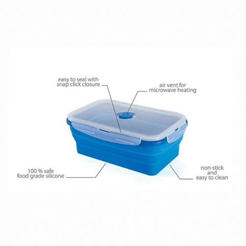 Collapsible Food Container Malaysia- Blue Colour