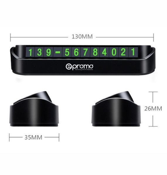 Foldable Parking Phone Number Display Dashboard-4